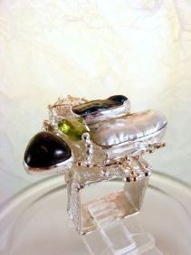 Original Handmade by Artist Designer Maker, Gregory Pyra Piro One of a Kind Original #Handmade #Sterling #Silver and #Gold, Jewellery in #London, #Art Jewellery, #Jewellery Handcrafted by #Artist, #Ring 8932
