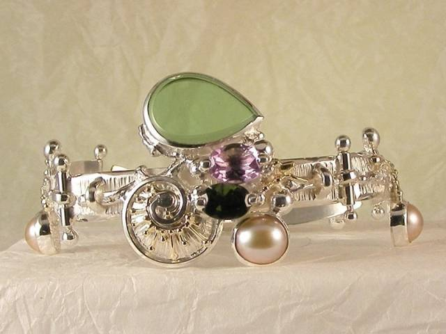 Visit my website to see this bracelet http://www.designerartjewellery.com/bracelets Gregory Pyra Piro One of a Kind Original #Handmade #Gold and #Sterling #Silver #Bracelet 4832