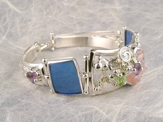 Visit my website to see this bracelet http://www.designerartjewellery.com/bracelets Gregory Pyra Piro One of a Kind Original #Handmade #Gold and #Sterling #Silver #Bracelet 3982