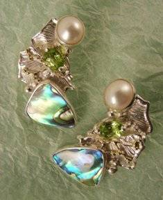 Original Handmade by Artist Designer Maker, Gregory Pyra Piro One of a Kind Original #Handmade #Sterling #Silver and #Gold, Jewellery in #London, #Art Jewellery, #Jewellery Handcrafted by #Artist, #Earrings 6342