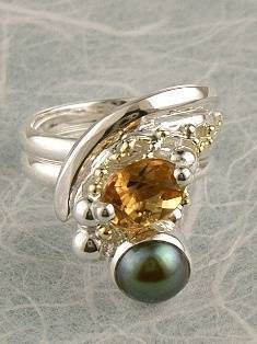 Original Handmade by Artist Designer Maker, Gregory Pyra Piro One of a Kind Original #Handmade #Sterling #Silver and #Gold, Jewellery in #London, #Art Jewellery, #Jewellery Handcrafted by #Artist, #Ring 2791