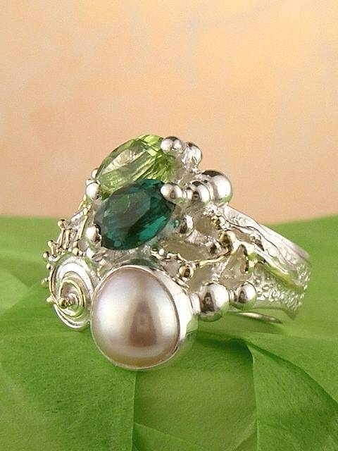 Follow us, Join us on Facebook, and visit http://www.designerartjewellery.com, Gregory Pyra Piro One of a Kind Handmade Jewellery in London in Silver and Gold, Bespoke Jewellery with Semi Precious Stones, Band #Ring 1438