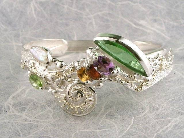 Visit my website to see this bracelet http://www.designerartjewellery.com/bracelets Gregory Pyra Piro One of a Kind Original #Handmade #Gold and #Sterling #Silver #Bracelet 2060