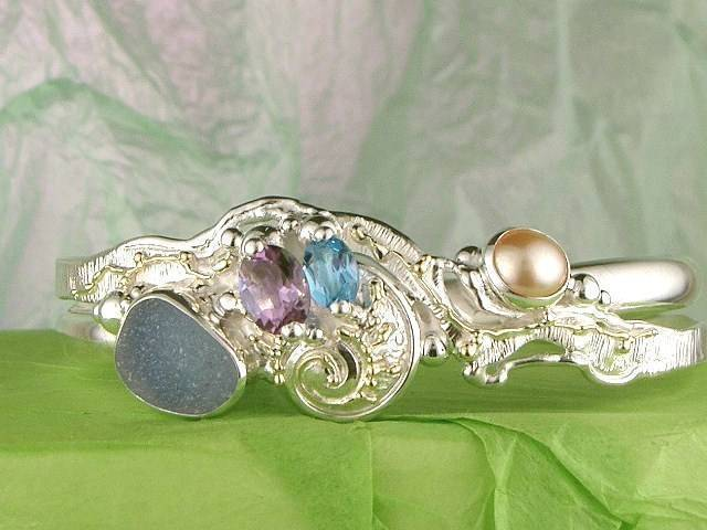 Visit my website to see this bracelet http://www.designerartjewellery.com/bracelets Gregory Pyra Piro One of a Kind Original #Handmade #Gold and #Sterling #Silver #Bracelet 2843