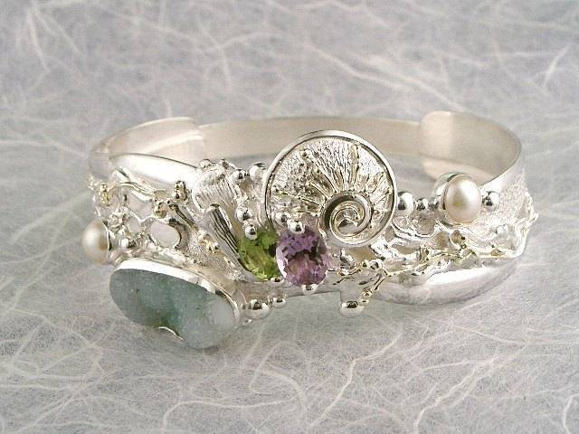 Visit my website to see this bracelet http://www.designerartjewellery.com/bracelets Gregory Pyra Piro One of a Kind Original #Handmade #Gold and #Sterling #Silver #Bracelet 3492