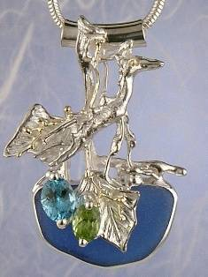 Follow us, Join us on Facebook, and visit http://www.designerartjewellery.com, Gregory Pyra Piro One of a Kind Handmade Jewellery in London in Silver and Gold, Bespoke Jewellery with Semi Precious Stones, #Peridot and Blue Topaz #Pendant 6320