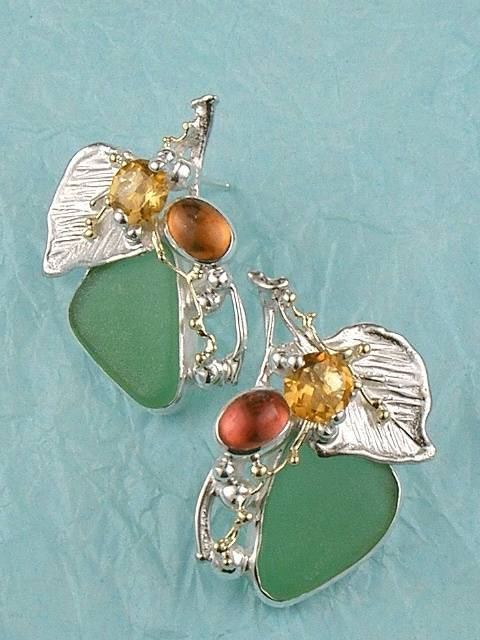 Original Handmade by Artist Designer Maker, Gregory Pyra Piro One of a Kind Original #Handmade #Sterling #Silver and #Gold, Jewellery in #London, #Art Jewellery, #Jewellery Handcrafted by #Artist, #Earrings #4570