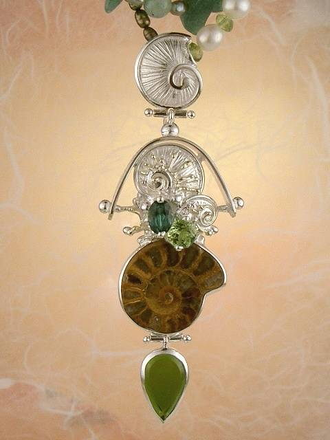 Original Handmade by Artist Designer Maker, Gregory Pyra Piro One of a Kind Original #Handmade #Sterling #Silver and #Gold, Jewellery in #London, #Art Jewellery, #Jewellery Handcrafted by #Artist, #Tourmaline #Necklace #9642