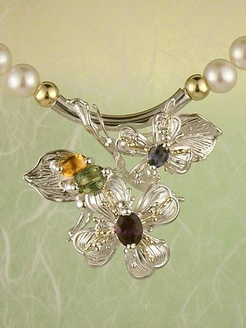 Original Handmade by Artist Designer Maker, Gregory Pyra Piro One of a Kind Original #Handmade #Sterling #Silver and #Gold, Jewellery in #London, #Art Jewellery, #Jewellery Handcrafted by #Artist, #Tourmaline #Necklace #3845