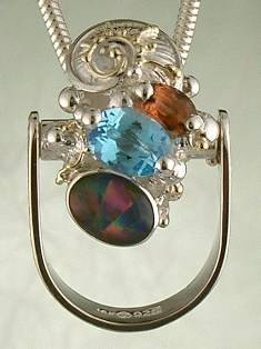 Original Handmade by Artist Designer Maker, Gregory Pyra Piro One of a Kind Original #Handmade #Sterling #Silver and #Gold, Jewellery in #London, #Art Jewellery, #Jewellery Handcrafted by #Artist, #Tourmaline #Ring Pendant 1843