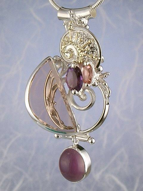 Original Handmade by Artist Designer Maker, Gregory Pyra Piro One of a Kind Original #Handmade #Sterling #Silver and #Gold, Jewellery in #London, #Art Jewellery, #Jewellery Handcrafted by #Artist, #Tourmaline #Pendant #8659