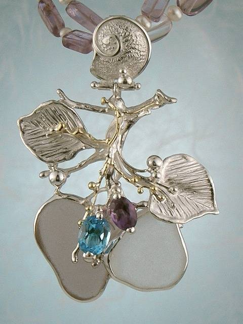Original Handmade by Artist Designer Maker, Gregory Pyra Piro One of a Kind Original #Handmade #Sterling #Silver and #Gold, Jewellery in #London, #Art Jewellery, #Jewellery Handcrafted by #Artist, #Necklace 8673