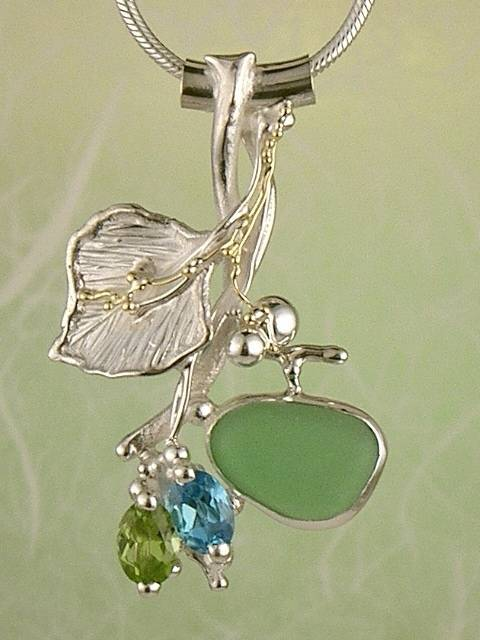 Follow us, Join us on Facebook, and visit http://www.designerartjewellery.com, Gregory Pyra Piro One of a Kind Handmade Jewellery in London in Silver and Gold, Bespoke Jewellery with Semi Precious Stones, #Peridot and Blue Topaz #Pendant 1932