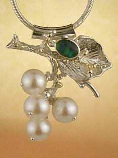 Original Handmade by Artist Designer Maker, Gregory Pyra Piro One of a Kind Original #Handmade #Sterling #Silver and #Gold, Jewellery in #London, #Art Jewellery, #Jewellery Handcrafted by #Artist, #Opal #Pendant 8382