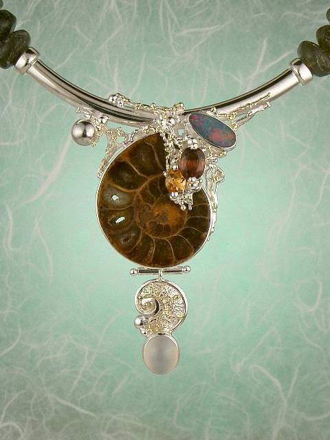 Follow us, Join us on Facebook, and visit http://www.designerartjewellery.com, Gregory Pyra Piro One of a Kind Handmade Jewellery in London in Silver and Gold, Bespoke Jewellery with Semi Precious Stones, #Necklace 2043