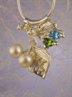 Follow us, Join us on Facebook, and visit http://www.designerartjewellery.com, Gregory Pyra Piro One of a Kind Handmade Jewellery in London in Silver and Gold, Bespoke Jewellery with Semi Precious Stones, #Peridot and Blue Topaz #Pendant 7594