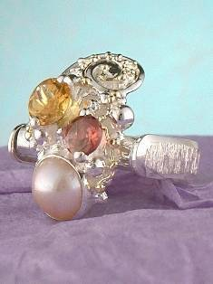 Get a Unique Ring Pendant like this that Works as both a Ring and a Pendant,  Gregory Pyra Piro, #Handmade #Sterling #Silver and #Gold, #Art Jewellery, #Jewellery Handcrafted by #Artist, #Ring Pendant 6452