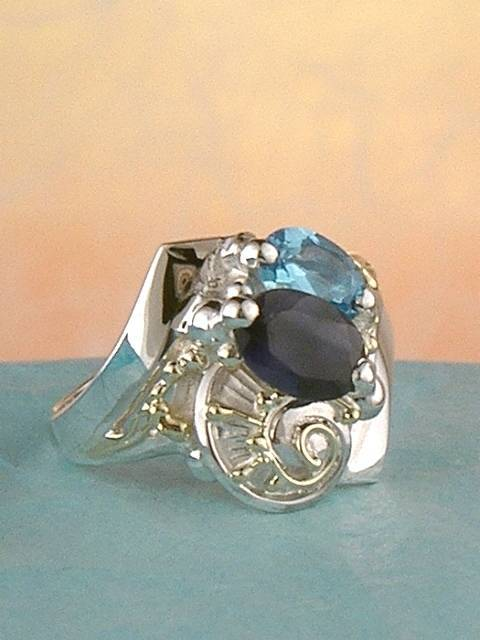 Original Handmade by Artist Designer Maker, Gregory Pyra Piro One of a Kind Original #Handmade #Sterling #Silver and #Gold, Jewellery in #London, #Art Jewellery, #Jewellery Handcrafted by #Artist, #Ring 4963