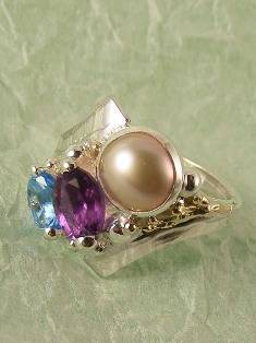 Original Handmade by Artist Designer Maker, Gregory Pyra Piro One of a Kind Original #Handmade #Sterling #Silver and #Gold, Jewellery in #London, #Art Jewellery, #Jewellery Handcrafted by #Artist, #Ring 9753