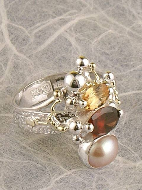 Follow us, Join us on Facebook, and visit http://www.designerartjewellery.com, Gregory Pyra Piro One of a Kind Handmade Jewellery in London in Silver and Gold, Bespoke Jewellery with Semi Precious Stones, #Ring 2748