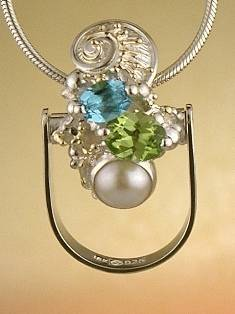 Get a Unique Ring Pendant like this that Works as both a Ring and a Pendant,  Gregory Pyra Piro, #Handmade #Sterling #Silver and #Gold, #Art Jewellery, #Jewellery Handcrafted by #Artist, #Ring Pendant 8693