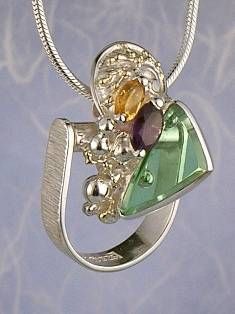 Get a Unique Ring Pendant like this that Works as both a Ring and a Pendant,  Gregory Pyra Piro, #Handmade #Sterling #Silver and #Gold, #Art Jewellery, #Jewellery Handcrafted by #Artist, #Ring Pendant 9294