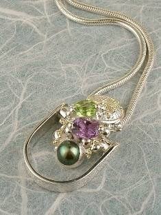 Get a Unique Ring Pendant like this that Works as both a Ring and a Pendant,  Gregory Pyra Piro, #Handmade #Sterling #Silver and #Gold, #Art Jewellery, #Jewellery Handcrafted by #Artist, #Ring Pendant 2512