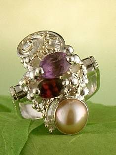 Get a Unique Ring Pendant like this that Works as both a Ring and a Pendant,  Gregory Pyra Piro, #Handmade #Sterling #Silver and #Gold, #Art Jewellery, #Jewellery Handcrafted by #Artist, #Ring Pendant 7302