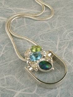 Original Handmade by Artist Designer Maker, Gregory Pyra Piro One of a Kind Original #Handmade #Sterling #Silver and #Gold, Jewellery in #London, #Art Jewellery, #Jewellery Handcrafted by #Artist, #Opal #Ring Pendant 7362