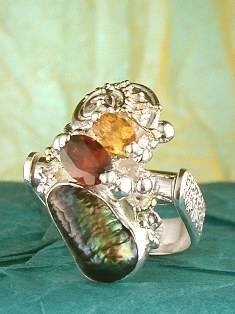 Get a Unique Ring Pendant like this that Works as both a Ring and a Pendant,  Gregory Pyra Piro, #Handmade #Sterling #Silver and #Gold, #Art Jewellery, #Jewellery Handcrafted by #Artist, #Ring Pendant 1623