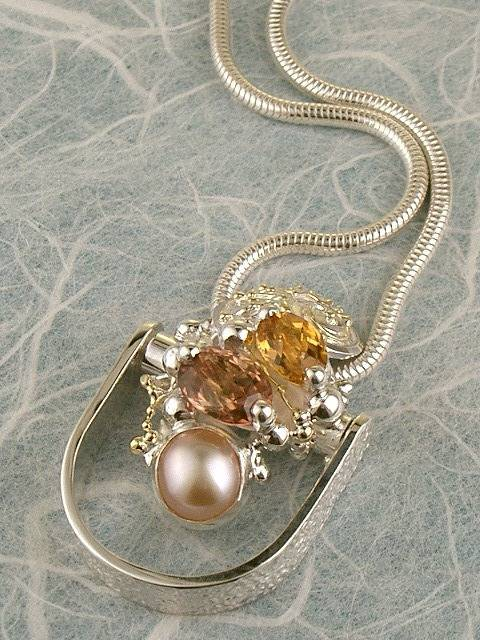 Get a Unique Ring Pendant like this that Works as both a Ring and a Pendant,  Gregory Pyra Piro, #Handmade #Sterling #Silver and #Gold, #Art Jewellery, #Jewellery Handcrafted by #Artist, #Ring Pendant 3682
