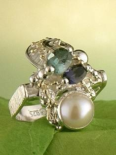 Get a Unique Ring Pendant like this that Works as both a Ring and a Pendant,  Gregory Pyra Piro, #Handmade #Sterling #Silver and #Gold, #Art Jewellery, #Jewellery Handcrafted by #Artist, #Ring Pendant 7562
