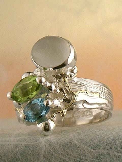 Original Handmade by Artist Designer Maker, Gregory Pyra Piro One of a Kind Original #Handmade #Sterling #Silver and #Gold, Jewellery in #London, #Art Jewellery, #Jewellery Handcrafted by #Artist, #Ring 3274