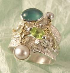 Follow us, Join us on Facebook, and visit http://www.designerartjewellery.com, Gregory Pyra Piro One of a Kind Handmade Jewellery in London in Silver and Gold, Bespoke Jewellery with Semi Precious Stones, #Ring 3284