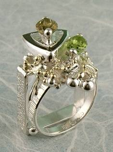 Original Handmade by Artist Designer Maker, Gregory Pyra Piro One of a Kind Original #Handmade #Sterling #Silver and #Gold, Jewellery in #London, #Art Jewellery, #Jewellery Handcrafted by #Artist, #Tourmaline #Ring 9564