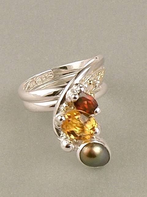 Original Handmade by Artist Designer Maker, Gregory Pyra Piro One of a Kind Original #Handmade #Sterling #Silver and #Gold, Jewellery in #London, #Art Jewellery, #Jewellery Handcrafted by #Artist, #Ring #4236