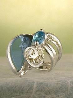 Original Handmade by Artist Designer Maker, Gregory Pyra Piro One of a Kind Original #Handmade #Sterling #Silver and #Gold, Jewellery in #London, #Art Jewellery, #Jewellery Handcrafted by #Artist, #Ring 9452