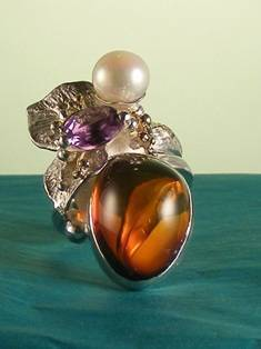 Original Handmade by Artist Designer Maker, Gregory Pyra Piro One of a Kind Original #Handmade #Sterling #Silver and #Gold, Jewellery in #London, #Art Jewellery, #Jewellery Handcrafted by #Artist, #Ring 9674