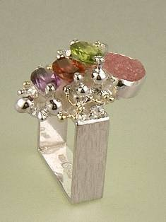 Original Handmade by Artist Designer Maker, Gregory Pyra Piro One of a Kind Original #Handmade #Sterling #Silver and #Gold, Jewellery in #London, #Art Jewellery, #Jewellery Handcrafted by #Artist, #Ring 3976