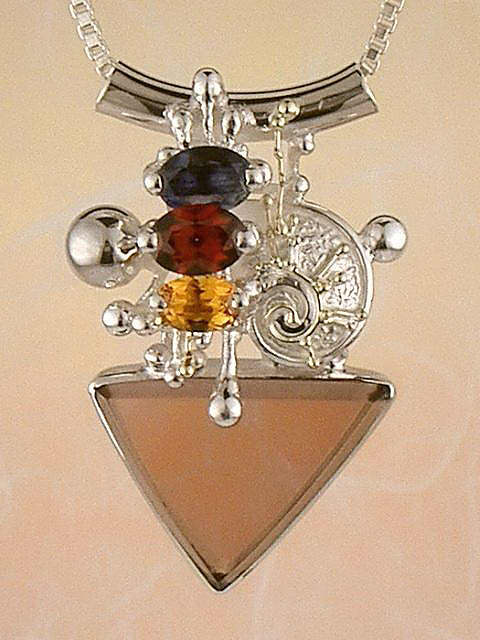 Follow us, Join us on Facebook, and visit http://www.designerartjewellery.com, Gregory Pyra Piro One of a Kind Handmade Jewellery in London in Silver and Gold, Bespoke Jewellery with Semi Precious Stones, #Pendant 5374