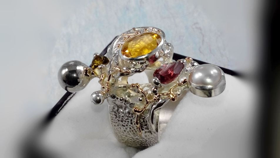 Follow us, Join us on Facebook, and visit http://www.designerartjewellery.com, Gregory Pyra Piro One of a Kind Handmade Jewellery in London in Silver and Gold, Bespoke Jewellery with Semi Precious Stones, Band #Ring 9435