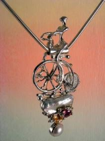 Original Handmade by Artist Designer Maker, Gregory Pyra Piro One of a Kind Original #Handmade #Sterling #Silver and #Gold, Jewellery in #London, #Art Jewellery, #Jewellery Handcrafted by #Artist, #Pendant 3896