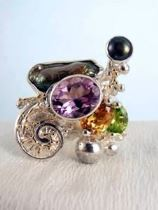 Follow us, Join us on Facebook, and visit http://www.designerartjewellery.com, Gregory Pyra Piro One of a Kind Handmade Jewellery in London in Silver and Gold, Bespoke Jewellery with Semi Precious Stones, #Ring 1565