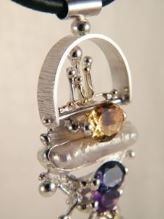 Follow us, Join us on Facebook, and visit http://www.designerartjewellery.com, Gregory Pyra Piro One of a Kind Handmade Jewellery in London in Silver and Gold, Bespoke Jewellery with Semi Precious Stones, #Pendant 2650