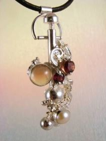 Original Handmade by Artist Designer Maker, Gregory Pyra Piro One of a Kind Original #Handmade #Sterling #Silver and #Gold, Jewellery in #London, #Art Jewellery, #Jewellery Handcrafted by #Artist, #Tourmaline #Pendant #8930