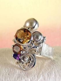 Original Handmade by Artist Designer Maker, Gregory Pyra Piro One of a Kind Original #Handmade #Sterling #Silver and #Gold, Jewellery in #London, #Art Jewellery, #Jewellery Handcrafted by #Artist, #Ring 4291
