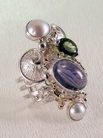Original Handmade by Artist Designer Maker, Gregory Pyra Piro One of a Kind Original #Handmade #Sterling #Silver and #Gold, Jewellery in #London, #Art Jewellery, #Jewellery Handcrafted by #Artist, #Ring 7053