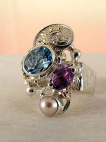 Original Handmade by Artist Designer Maker, Gregory Pyra Piro One of a Kind Original #Handmade #Sterling #Silver and #Gold, Jewellery in #London, #Art Jewellery, #Jewellery Handcrafted by #Artist, #Ring 2855