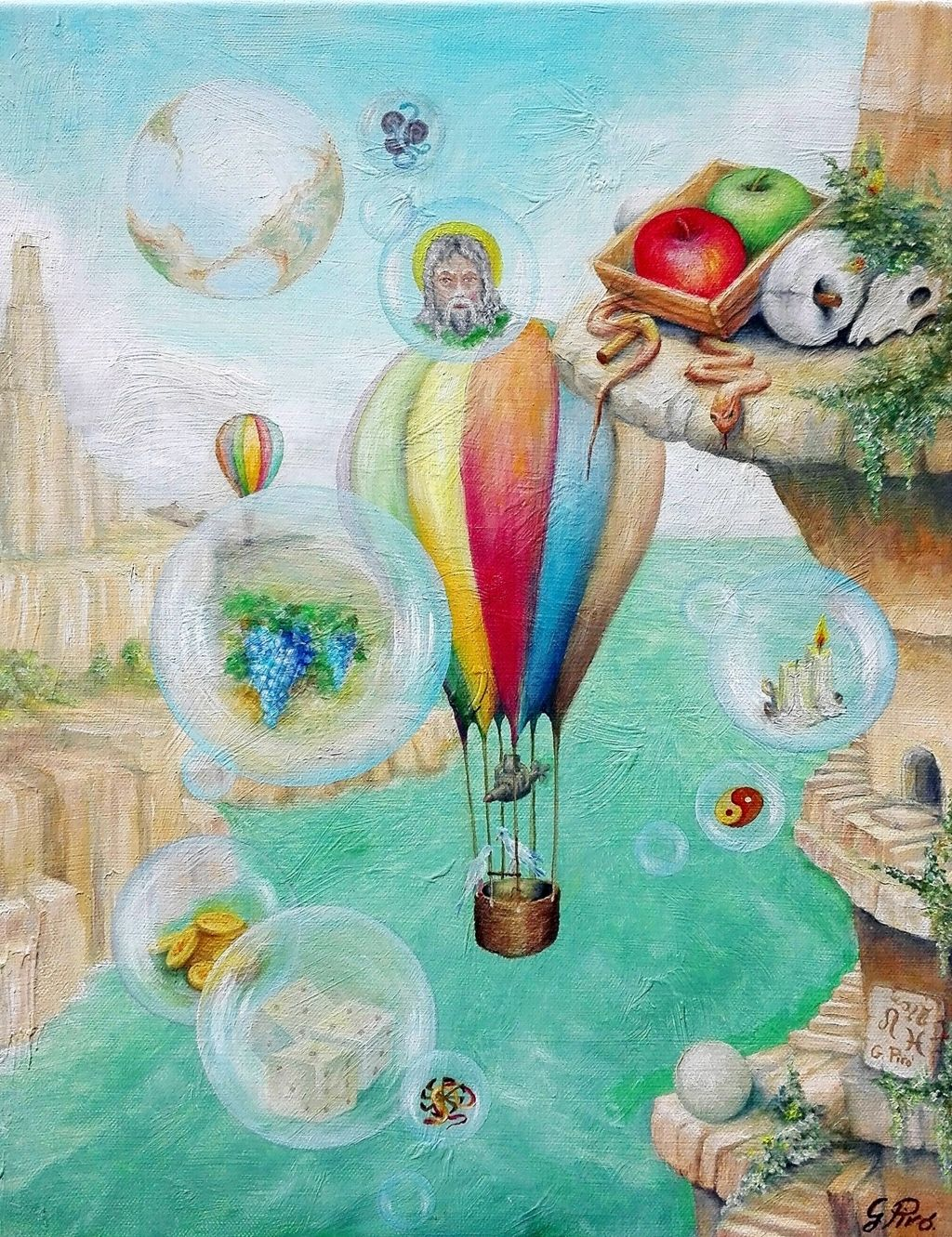 Oil Painting, Surrealism, Gregory Pyra Piro