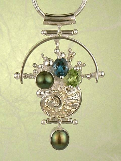 Follow us, Join us on Facebook, and visit http://www.designerartjewellery.com, Gregory Pyra Piro One of a Kind Handmade Jewellery in London in Silver and Gold, Bespoke Jewellery with Semi Precious Stones, #Pendant 9264